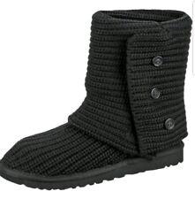 Ugg Australia Classic Cardy de punto para mujer de Piel de Oveja 5819W Negro Zapatos bota de Reino Unido 8.5
