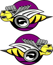 """Dodge Rumble Bee's Purple Large Decals Right & Left 9"""" Each"""