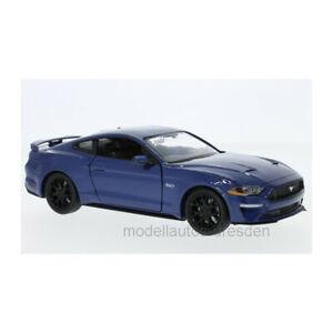 MOTORMAX 79352 Ford MUSTANG Gt Blue 2018 Scale 1:24 Model Car New !°
