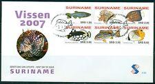 SURINAME UITGAVE 2007 FDC 305 VISSEN 2007.