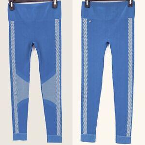 Fabletics Womens Blue High Waisted Seamless Check Legging Sz S