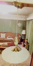 "Vintage 1950s Pull Down 18"" Metal Ceiling Chandelier Light  Quite Nice"