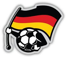 """Germany Flag Football Ball Car Bumper Sticker Decal 5"""" x 5"""""""