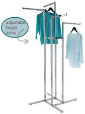 """4-Way Clothing Garment Display Rack With 4 Straight Arms 1"""" Square 