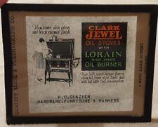 Vintage Magic Lantern Glass Slide Advertising Clark Jewel Stoves Chicago
