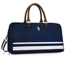 NEW Ralph Lauren Polo Blue & White Duffle Bag Weekender Hand Bag
