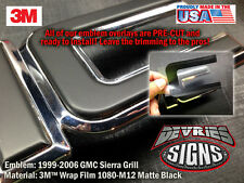 DOMED & non-domed GMC SIERRA individual emblem overlays 3M™