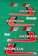 1976 76'  Z50 honda Vintage 4pc tank + sidecover decals stickers graphics