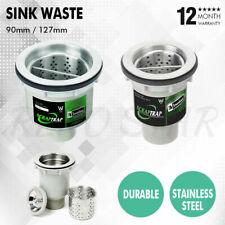 90/127mm Sink Waste Arrestor Strainer Removable Basket Plug Stainless Steel Dura