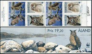 Finland-Aland 122-125a booklet,MNH. Eagle owl-bubo,1996
