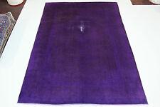 Vintage élégant violet délavé Persan très bien Tapis Tapis d'Orient 3,70 X 2,62