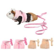 Hamster Gerbil Rat Mouse Guinea Pig Harness Vest Leash Pets Traction Rope Chest