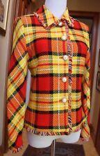 NWOT $1385 ST. JOHN JACKET Orange Yellow, FRINGE Sz. 2; P S XS 4? Suit Blazer NU