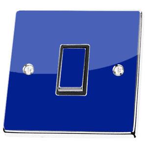 Plain Dark Blue Navy Light Switch & Power Socket Stickers skin decal vinyl cover