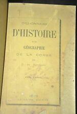 BUTTAFOCO Dictionnaire d'histoire et de géographie de la Corse. RARE E.O. 1876
