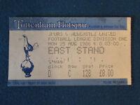 Tottenham Hotspur v Newcastle United - 25/8/86 - Ticket
