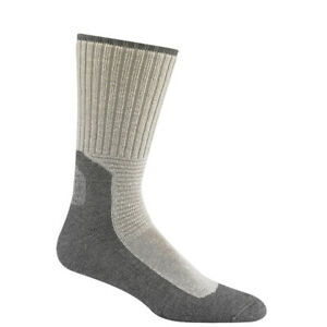 Wigwam At Work Socks Mens Durasole Pro Crew Socks 2 Pack White/Grey