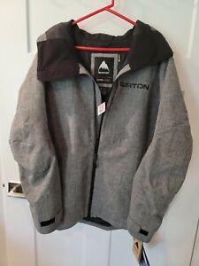 Burton Mens Gore-Tex Radial Jacket, Bog Heather, Size Medium, new
