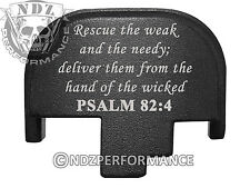 for Smith Wesson S&W M&P 9 40 45 Rear Slide Back Plate Blk Bible Psalm 82:4