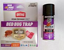 2 Ortho Bed Bug Traps + FREE Hot Shot Spray, 2 pièges à punaises de lit et spray