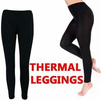 NEW WOMENS LADIES FOOTLESS LEGGINGS THICK WINTER FLEECE LINED THERMAL STRETCH