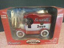 1977 Campbell's Soup 1912 Ford Model T Delivery Truck/Car Coin Bank Die-Cast