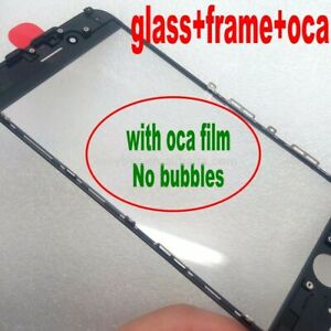 1 X Glass Lens Cold Pressed Frame With OCA Glue  for iPhone 6, 6s, 7 8 plus