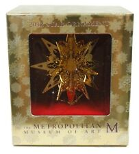 Metropolitan Museum of Art 2012 Star Geometric Gold Plated Christmas Ornament