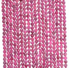 """2.5MM RED PINK RUBY GEMSTONE GRADE AAA MICRO FACETED ROUND LOOSE BEADS 16"""""""