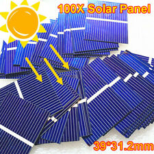 100 Pcs Solar Panel 39*31.2mm Solar Cell Solar Power Charger Battery DIY Outdoor