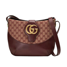 NWT Authentic Gucci Arli Medium GG Canvas & Leather Shoulder Bag