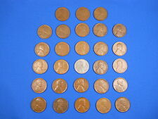 "Lincoln Wheat Cent Penny San Fran ""S"" Mint Set 1916S-1955S Collection 33 Coins!"