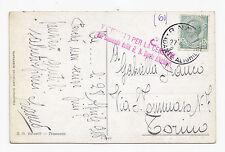 M52-R.NAVE DANTE ALIGHIERI SU CARTOLINA 27/4/1918