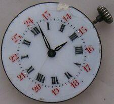 Election wristwatch movement & enamel dial 25, mm. in diameter balance Ok.