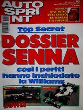 Autosprint 10 1995 Berger racconta la Ferrari e del futuro. Dossier Senna SC.55