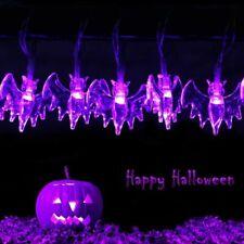 Halloween String Lights 10/20/30 LED Fairy Bat Solar 3D Horrible Decorations