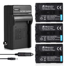 NP-FM50 Battery w/ Charger For Sony DSC-S30 S85 F707 F717 DCR-TRV250 280 NP-FM30
