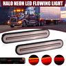 2x Halo LED Stop Flowing Turn Signal Indicator Tail Light Caravan Truck Trailer