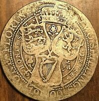 1900 GREAT BRITAIN VICTORIA SILVER FLORIN COIN