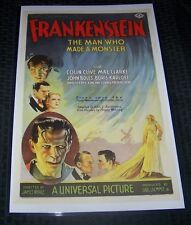 Frankenstein Boris Karloff Horror 11X17 Movie Poster The Man Who Made a Monster
