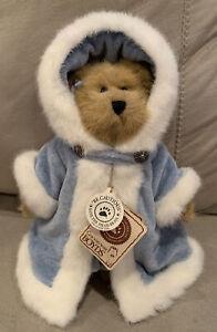 "Beautiful Boyds Bears BAILEY Style #9199-19 Light Blue Dress Fur Cape 8"""