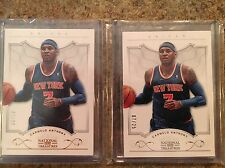 Carmelo Anthony 1/1 Lot Jersey/Serial #'d 7/25 & 7/99 2012-13 National Treasures