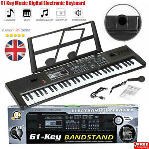 Musical Keyboard Electronic Digital Piano 61 Key Adults Beginner With Stand PTUK