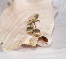 Vintage Sarah Coventry silver cherries brooch pin