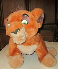 "LION KING Simba's Pride KOVU  Plush talking stuffed animal 16"" long, Disney"