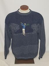 Men's Grand Slam by Munsingwear- Golf Large Dark Blue Sweater