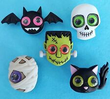 JEEPERS PEEPERS  Cat Bat Skull Mummy Monster Halloween Dress It Up Craft Buttons