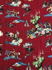 """Rodeo Red Fabric By Golding Cowboy Home Decor Fabric Piece 39""""W x 19""""L"""
