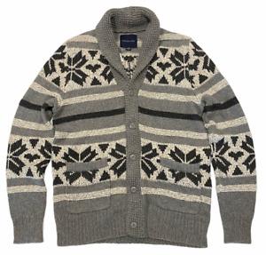 NWT AMERICAN EAGLE Shawl Collar Cardigan MEDIUM Gray Button #241531