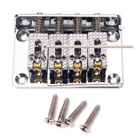 4 String Cigar Box Guitar Parts Guitar Bridge with Wrench and Screws Silver
